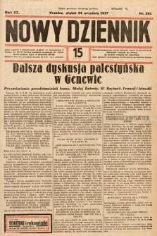 Nowy Dziennik. 1937, nr262