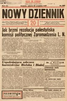 Nowy Dziennik. 1937, nr263