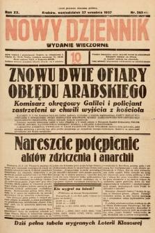 Nowy Dziennik (wydanie wieczorne). 1937, nr265