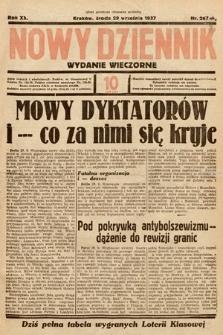 Nowy Dziennik (wydanie wieczorne). 1937, nr267