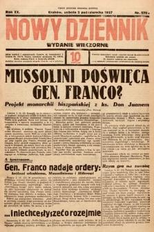 Nowy Dziennik (wydanie wieczorne). 1937, nr270
