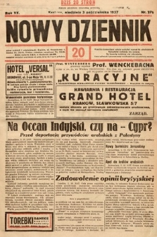 Nowy Dziennik. 1937, nr271