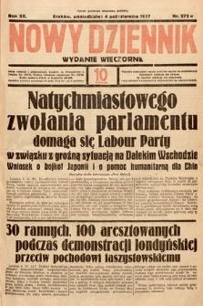 Nowy Dziennik (wydanie wieczorne). 1937, nr272
