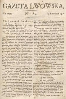 Gazeta Lwowska. 1817, nr185