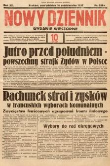 Nowy Dziennik (wydanie wieczorne). 1937, nr286