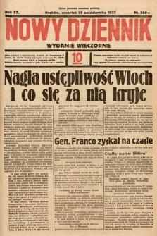 Nowy Dziennik (wydanie wieczorne). 1937, nr289
