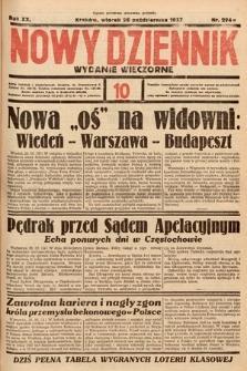 Nowy Dziennik (wydanie wieczorne). 1937, nr294