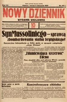 Nowy Dziennik (wydanie wieczorne). 1937, nr301