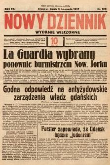 Nowy Dziennik (wydanie wieczorne). 1937, nr302
