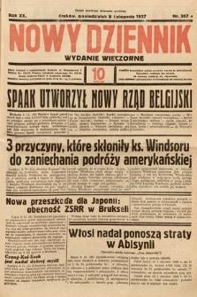 Nowy Dziennik (wydanie wieczorne). 1937, nr307