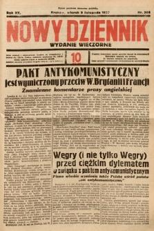 Nowy Dziennik (wydanie wieczorne). 1937, nr308