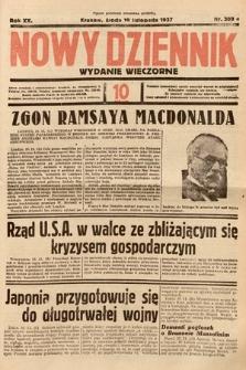 Nowy Dziennik (wydanie wieczorne). 1937, nr309