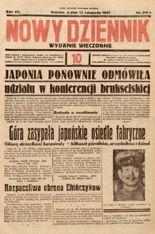 Nowy Dziennik (wydanie wieczorne). 1937, nr311