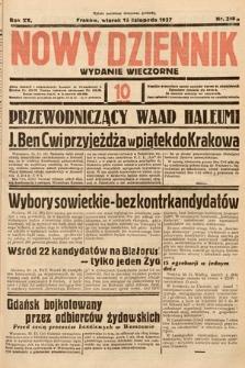Nowy Dziennik (wydanie wieczorne). 1937, nr315