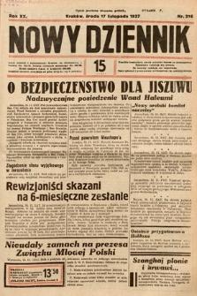 Nowy Dziennik. 1937, nr316