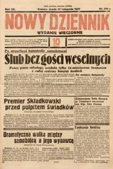 Nowy Dziennik (wydanie wieczorne). 1937, nr316