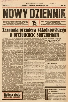 Nowy Dziennik. 1937, nr317