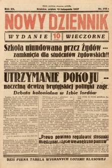 Nowy Dziennik (wydanie wieczorne). 1937, nr318
