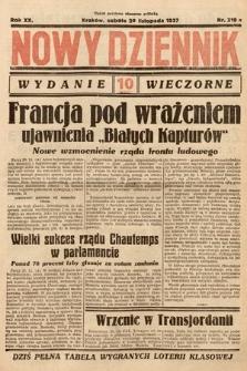 Nowy Dziennik (wydanie wieczorne). 1937, nr319