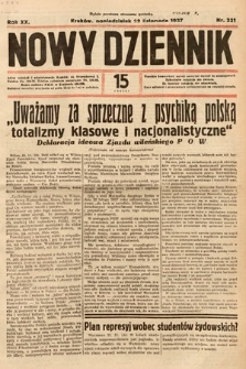 Nowy Dziennik. 1937, nr321