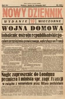 Nowy Dziennik (wydanie wieczorne). 1937, nr323