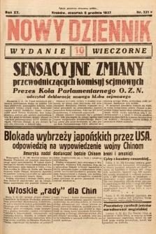 Nowy Dziennik (wydanie wieczorne). 1937, nr331