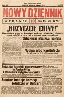 Nowy Dziennik (wydanie wieczorne). 1937, nr332