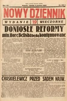 Nowy Dziennik (wydanie wieczorne). 1937, nr333