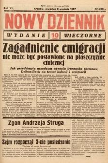 Nowy Dziennik (wydanie wieczorne). 1937, nr338