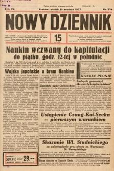 Nowy Dziennik. 1937, nr339