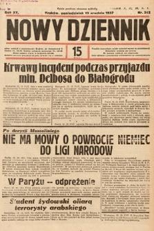 Nowy Dziennik. 1937, nr342