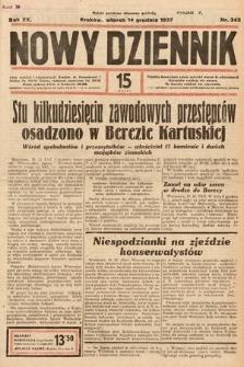 Nowy Dziennik. 1937, nr343