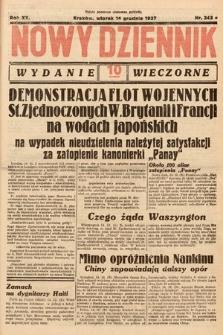 Nowy Dziennik (wydanie wieczorne). 1937, nr343