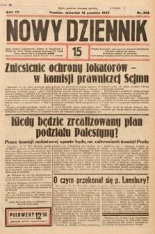 Nowy Dziennik. 1937, nr345