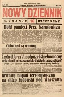 Nowy Dziennik (wydanie wieczorne). 1937, nr345