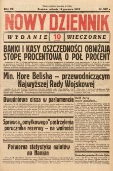 Nowy Dziennik (wydanie wieczorne). 1937, nr347