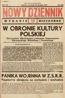 Nowy Dziennik (wydanie wieczorne). 1937, nr352