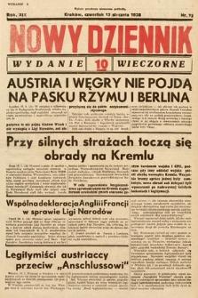 Nowy Dziennik (wydanie wieczorne). 1938, nr13