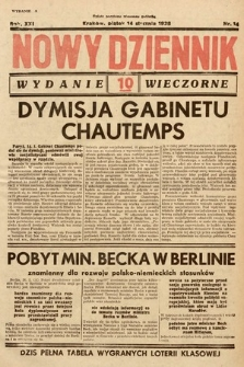 Nowy Dziennik (wydanie wieczorne). 1938, nr14