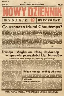 Nowy Dziennik (wydanie wieczorne). 1938, nr22