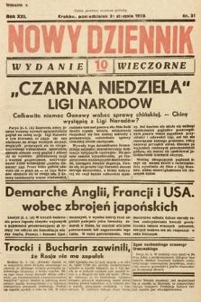 Nowy Dziennik (wydanie wieczorne). 1938, nr31