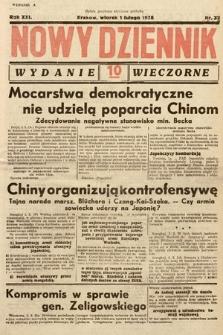 Nowy Dziennik (wydanie wieczorne). 1938, nr32