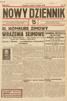 Nowy Dziennik. 1938, nr33