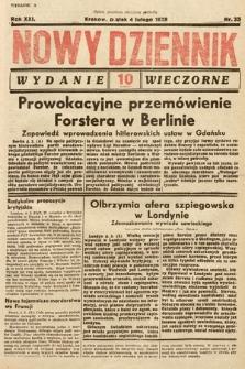 Nowy Dziennik (wydanie wieczorne). 1938, nr35