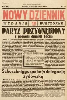 Nowy Dziennik (wydanie wieczorne). 1938, nr53