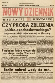 Nowy Dziennik (wydanie wieczorne). 1938, nr57