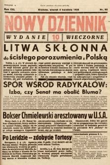 Nowy Dziennik (wydanie wieczorne). 1938, nr95