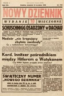 Nowy Dziennik (wydanie wieczorne). 1938, nr104