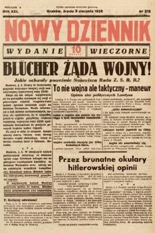 Nowy Dziennik (wydanie wieczorne). 1938, nr212
