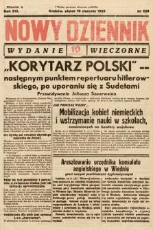 Nowy Dziennik (wydanie wieczorne). 1938, nr228